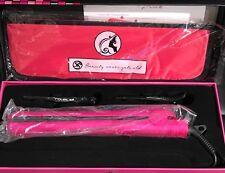 Royale Pink Diamond Ceramic Flat Iron/Hair Straightener & Heat Mat Travel Case