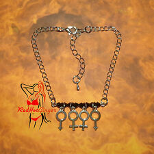 Swingers Anklet Hotwife Jewellery Cuckold Swinger Queen Of Spades FREE UK P&P