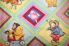 """OOP """"CIRCUS MENAGERIE"""" CHILDREN'S CIRCUS FABRIC ~ SOUTH SEA IMPORTS"""