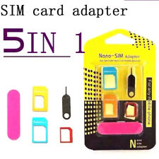 5 IN 1 Cell Phone Card Adapter Converter Set Nano SIM Card to Micro Standard
