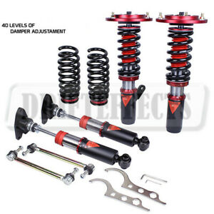 FOR BMW M3 14-18 F80 GODSPEED 40-Way DAMPER COILOVER SUSPENSION KIT CAMBER PLA