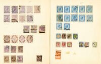 Italy Stamps Revenues 46x Different 1870's Issues on pages