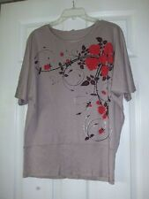 Euro Arnissa Fashion Stretchy top, size XL, Taupe-Brown color, compares to Chico
