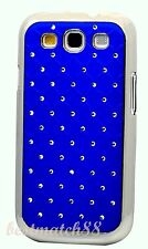 for Samsung galaxy s3 case  bling stone blue burgundy black pink mirror back