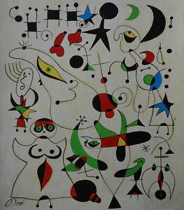 Rare & Unique original tempera, painting, signed Joan Miro, w COA, docs.
