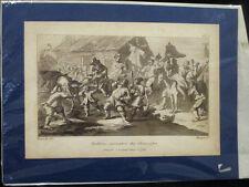 Antique Hogarth aquatinte Circ 1799 S hudisbra frontispice satire CARICATURE