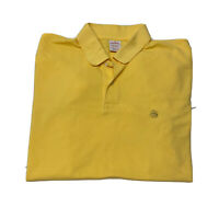 Brooks Brothers Men's Short Sleeve Polo Shirt Original Fit Sz L Large Yellow