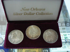 NEW ORLEANS MORGAN SILVER DOLLAR COLLECTION SET 1883 1884 1885 GREAT TONING UNC
