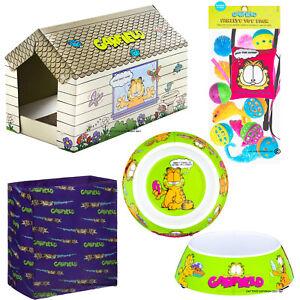 Garfield Cat Kitten Bundle Scratching Bag House Bed Toys Food Bowls x 2 Catnip