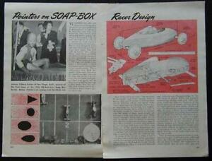 Soap Box Derby Racer Design & Building How-To Pointers 1947 original