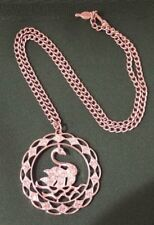Vintage Sarah Coventry Large Swan Pendant Necklace