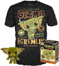 Gizmo as Gremlin Funko Pop Vinyl + T-Shirt New in Sealed Box