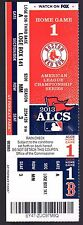 2013 ALCS Game 1 Full Ticket Boston Red Sox Vs Detroit Tigers Fenway Park