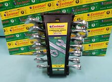 7pc  EASTMAN Metric Stubby Combination Wrench Combo 10-17 MM Polished BRAND NEW