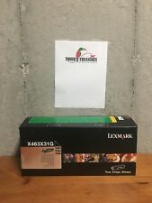 GENUINE LEXMARK X463X31G NEW FACTORY SEALED TONER CARTRIDGE X463 X464 X466