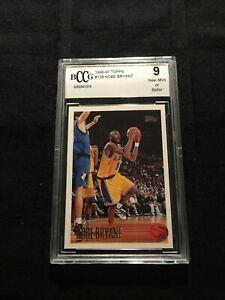 1996-97 Topps #138 Kobe Bryant ROOKIE Graded BCCG 9- BV-$600+