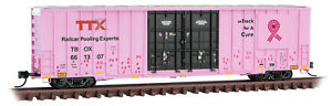 """Micro-Trains MTL N-Scale 60ft Box Car TTX Pink """"Breast Cancer Awareness"""" #661307"""