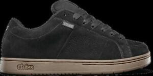 Etnies Mens Kingpin Black Dark Grey Gum Shoes