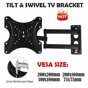 TV Wall Bracket Motion Mount For LED LCD 10 to 42 Inches Tilt Swivel Plasma TV