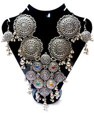 KUCHI TRIBAL NECKLACE BELLY DANCE BANJARA SET JEWELRY INDIA GYPSY INE836F01026