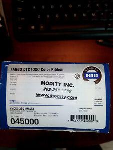 FARGO HID 045000 Color Ribbon YMCKO DTC1000 DTC1250e Printer 250 Prints NEW