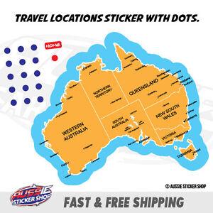 MAP AUSTRALIA TRAVEL LOCATION Sticker Aussie Car Flag 4x4 Funny Ute #6513EN