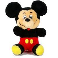 "Vintage Mickey Mouse Baby Plush Walt Disney Productions 11"" Stuffed Animal Toy"