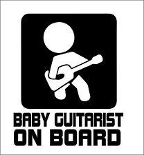 Baby Guitarist on Board Car Truck Van Bumper Window Vinyl Decal Sticker Guitar