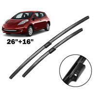 Front Windshield Wiper Blades For Nissan Leaf 2011 2012 2013 2014 2015 2016 2017