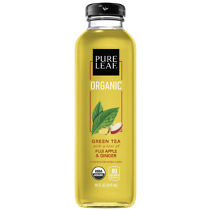 Pure Leaf, Organic Iced Tea, Fuji Apple  Ginger, 14Oz Bottles (Pack Of 8) (Pack