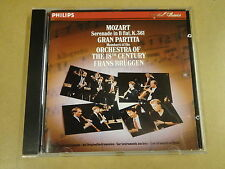 CD / MOZART - GRAN PARTITA - ORCHESTRA OF THE 18th CENTURY - FRANS BRUGGEN