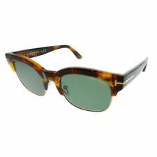0ef169e6b99b2 Tom Ford Harry TF 597 55N Yellow Havana Gold Plastic Sunglasses Green Lens