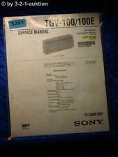 Sony Service Manual TGV 100 /100E TV Tuner Unit (#5291)