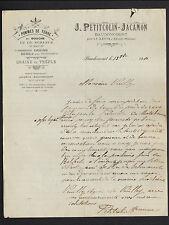 """BAUDONCOURT (70) POMMES DE TERRE & SEMENCES """"J. PETITCOLIN & JACAMON"""" en 1910"""