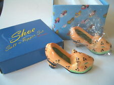 CERAMIC SALT AND PEPPER LEOPARD SHOE SET BY VANDOR