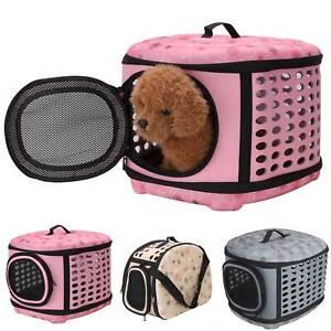 Pet Dog Cat Portable Travel Carrier Cage Bag Folding Kennel Box Holder Medium