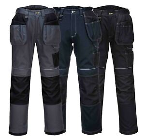 PORTWEST PW3 Holster Work Trousers Pockets Holster Pockets Work Wear T602