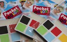 Schminkset 6 Farben + Pinsel für Karneval Fasching Party Für Unterwegs to GO NEU