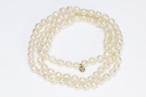 CHANEL Paris 1981 Collection Baroque Pearl Strand Sautoir Necklace