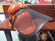 Chainsaw Brushcutter Safety Helmet Hard Hat w/ Mesh Visor & Earmuffs