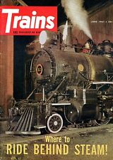 Trains Magazine June 1961 Where to Ride Behind Steam!