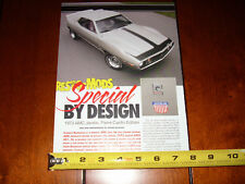 1973 AMC JAVELIN PIERRE CARDIN EDITION MUSCLECAR - ORIGINAL 2007 ARTICLE