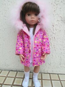 très jolie doudoune à capuche pour poupée Gotz ou Zapf ou autre poupée identique