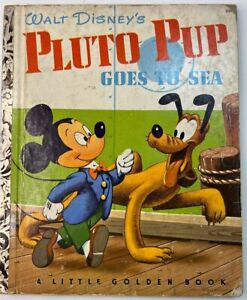 Walt Disney's Pluto Pup Goes To Sea Little Golden Book A ed Bedford