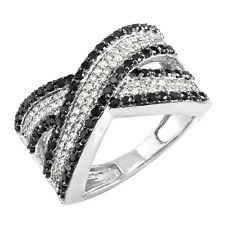 10k White Gold Round Diamond Ladies Cocktail Right Hand Ring 1 CT (Size 6)