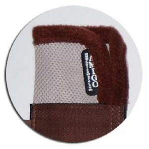 HORSEWARE Ireland AMIGO FLYBOOTS  Oatmeal & Brown HORSE FULL SIZE Set of FOUR