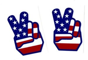 American Flag Peace Sign Decals Stickers
