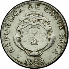 [#690063] Coin, Costa Rica, 5 Centimos, 1958, EF(40-45), Stainless Steel