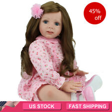 """24"""" Reborn Baby Dolls Handmade Toddler Vinyl Silicone Baby Doll Christmas Gifts"""