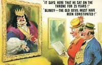 COMIC BAMFORTH KING'S PORTRAIT THRONE CONSTIPATION POSTCARD - NEW